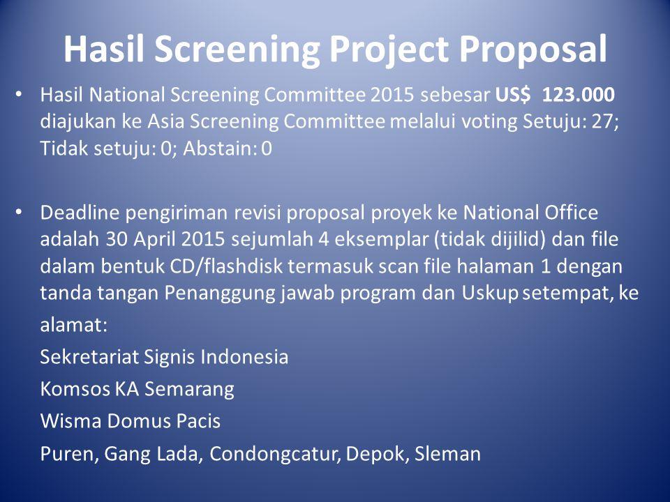 Badan Pengurus Signis Indonesia 2015-2019 KETUA: RM.