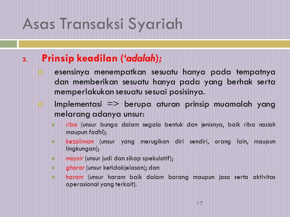 16 Asas Transaksi Syariah 1.