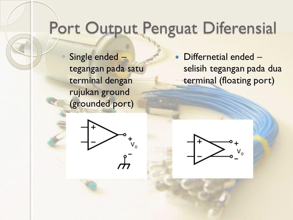 Pengamatan Output v o diukur langsung ke Ch1 atau Ch2 probe osiloskop Ch1 dan C2 probe osiloskop mengukur masing-masing terminal.