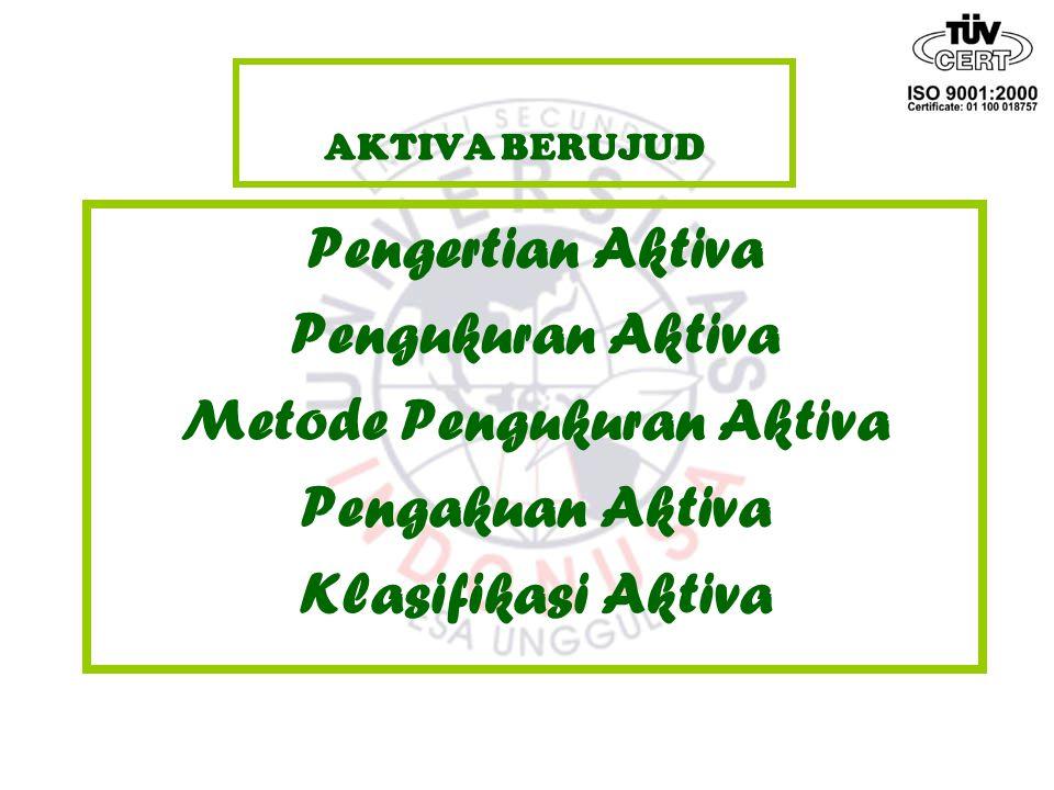Klasifikasi Aktiva Aktiva tidak lancar (non current asset) 5.