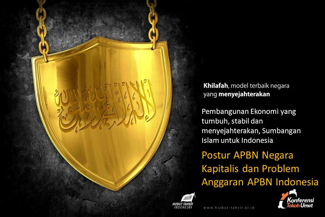 Pembangunan Ekonomi yang tumbuh, stabil dan menyejahterakan, Sumbangan Islam untuk Indonesia Postur APBN Negara Kapitalis dan Problem Anggaran APBN Indonesia