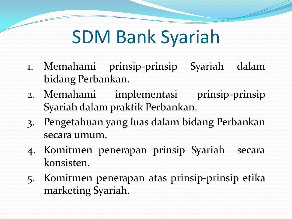 SDM Bank Syariah 1.Memahami prinsip-prinsip Syariah dalam bidang Perbankan. 2.Memahami implementasi prinsip-prinsip Syariah dalam praktik Perbankan. 3