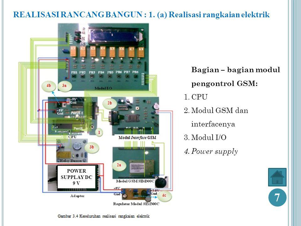 REALISASI RANCANG BANGUN : 1.(b) Realisasi komunikasi antar bagian 8 Replay