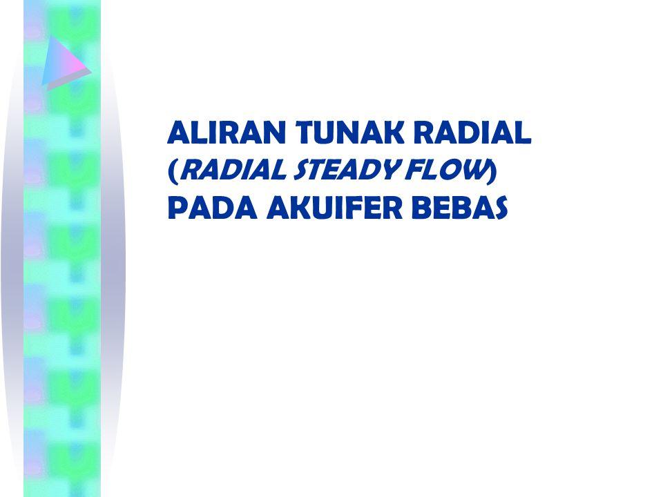 ALIRAN TUNAK RADIAL (RADIAL STEADY FLOW) PADA AKUIFER BEBAS