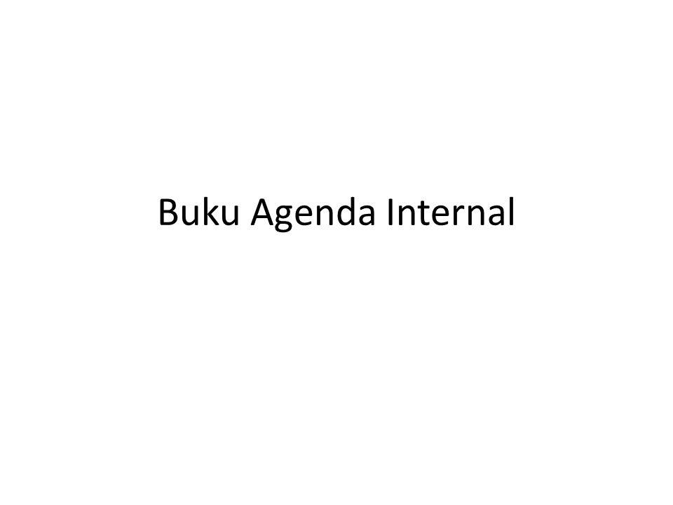 Buku Agenda Internal