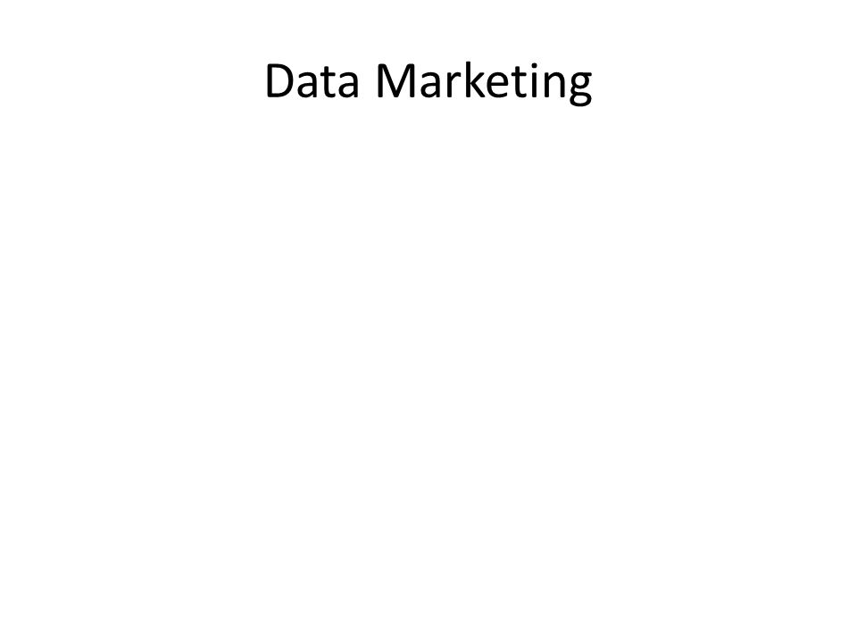 Data Marketing