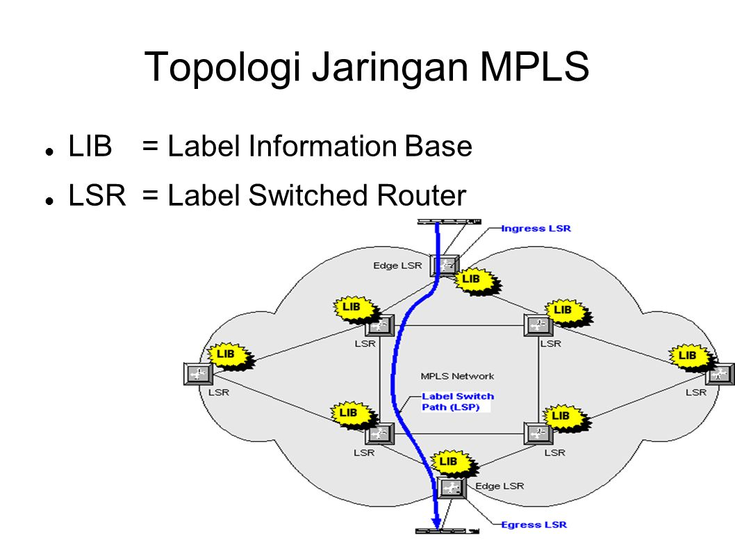 LIB= Label Information Base LSR= Label Switched Router