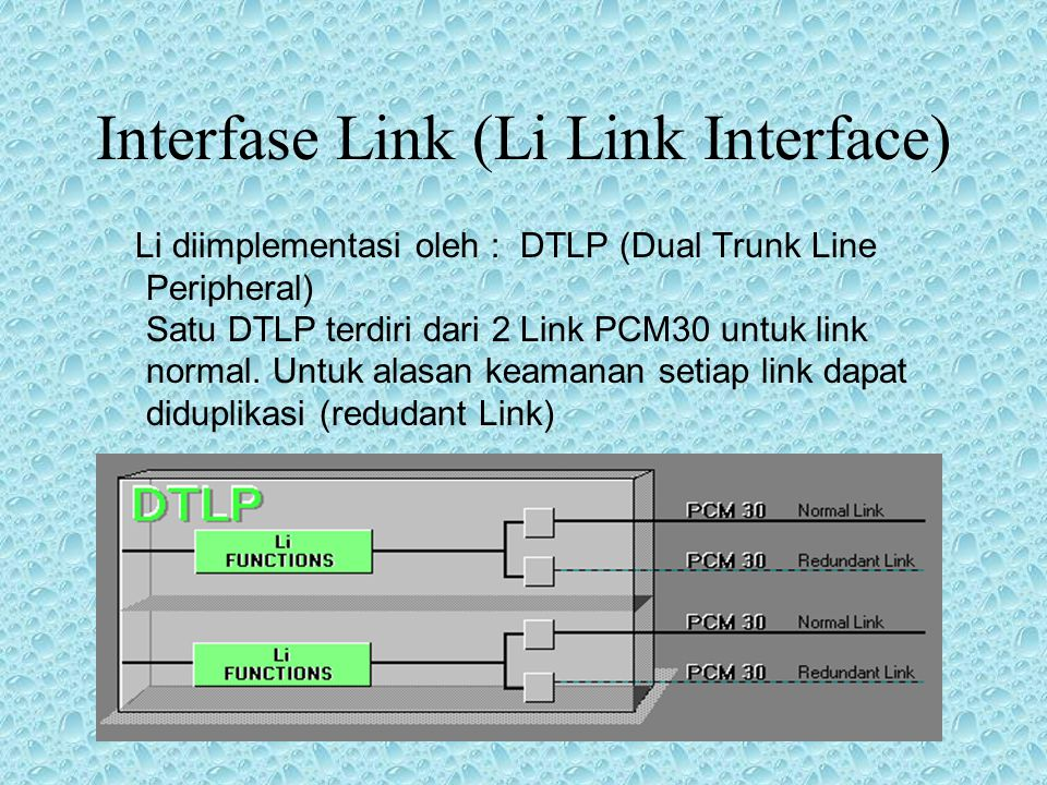 2.3. Switching Kanal-kanal Trafik BSC dihubungkan dengan TRAU dan BTSE melalui sistem PCM30 BSC dihubungkan dengan Li (Link Interface) melalui sistem