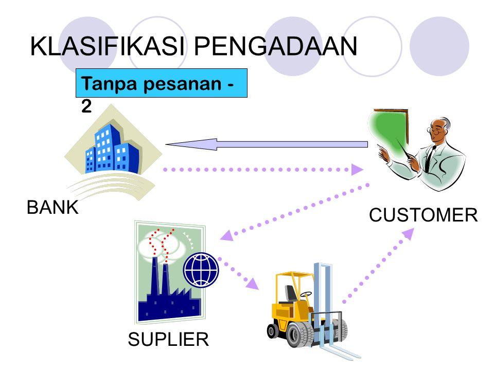 KLASIFIKASI PENGADAAN Tanpa pesanan - 2 SUPLIER BANK CUSTOMER