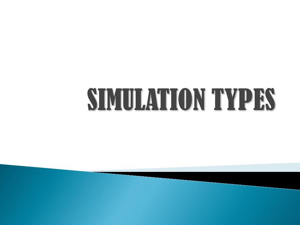  Statistical Simulation, menggambarkan sistem yang stochastic maupun static dan digunakan untuk meng-estimate nilai-nilai yang tidak bisa dengan mudah disimpulkan secara matematik.