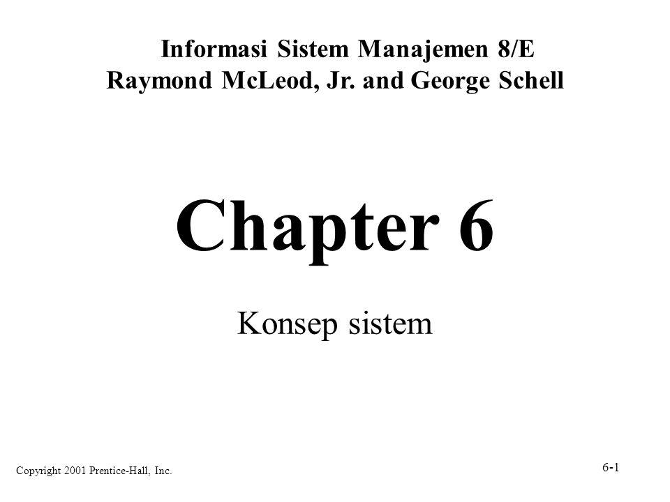 Chapter 6 Konsep sistem Informasi Sistem Manajemen 8/E Raymond McLeod, Jr. and George Schell Copyright 2001 Prentice-Hall, Inc. 6-1