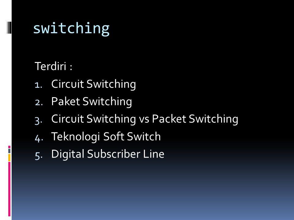 Perbedaan circuit dan packet switching