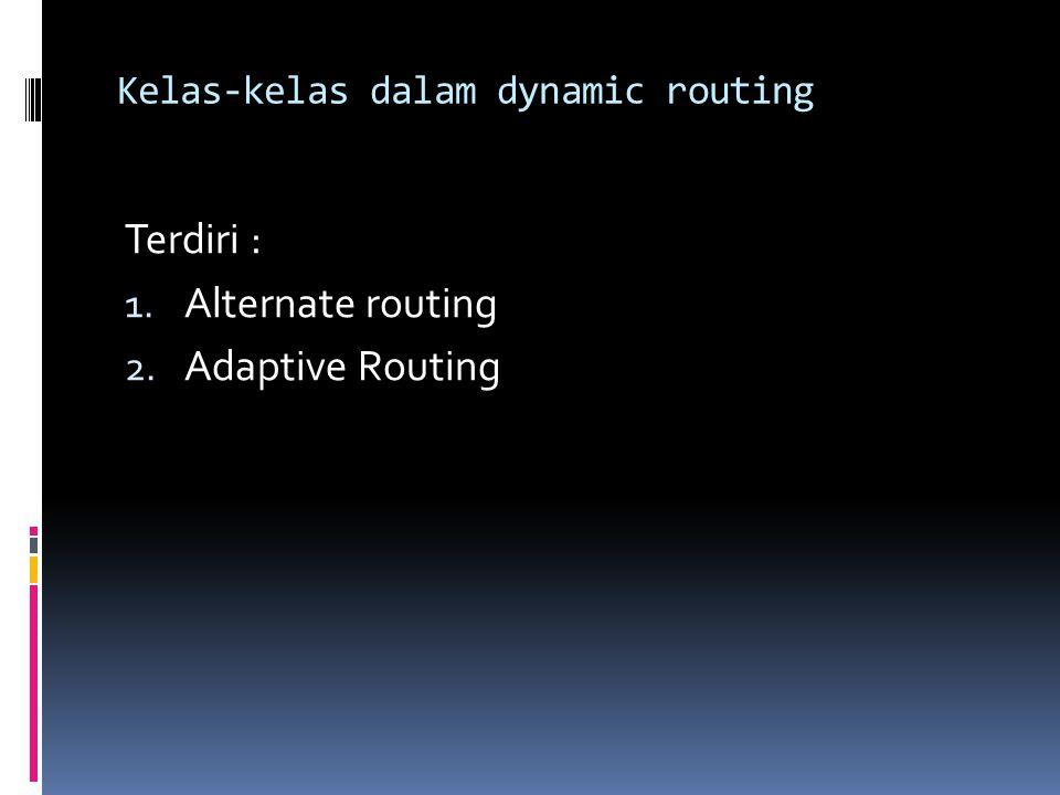 Alternate Routing adalah routing-routing pilihan yang dapat digunakan antara dua end office.