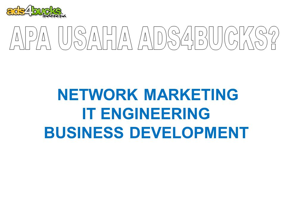 NETWORK MARKETING IT ENGINEERING BUSINESS DEVELOPMENT