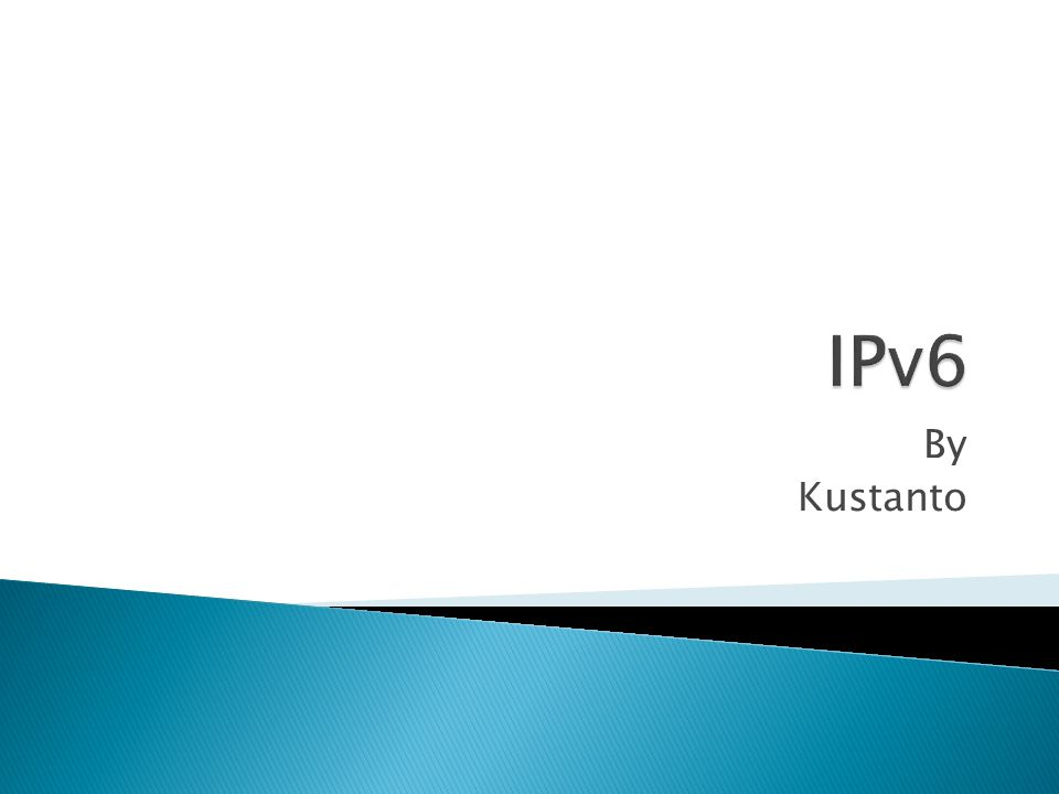 Sebuah jenis pengalamatan jaringan yang digunakan di dalam protokol jaringan TCP/IP yang menggunakan protokol IP versi 6.