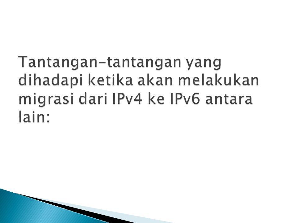  Demand (permintaan) terhadap IPv6 masih sangat sedikit, baru meliputi Operator Telekomunikasi dan Internet Provider.