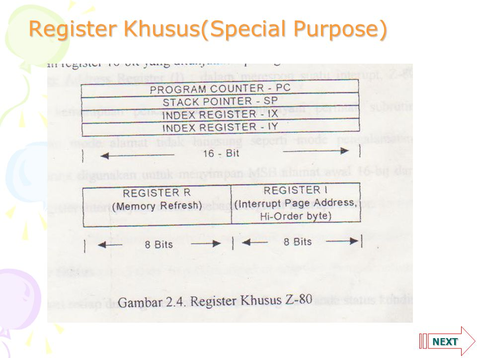 NEXT Register Khusus(Special Purpose)