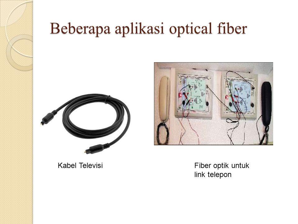 Beberapa aplikasi optical fiber Kabel TelevisiFiber optik untuk link telepon
