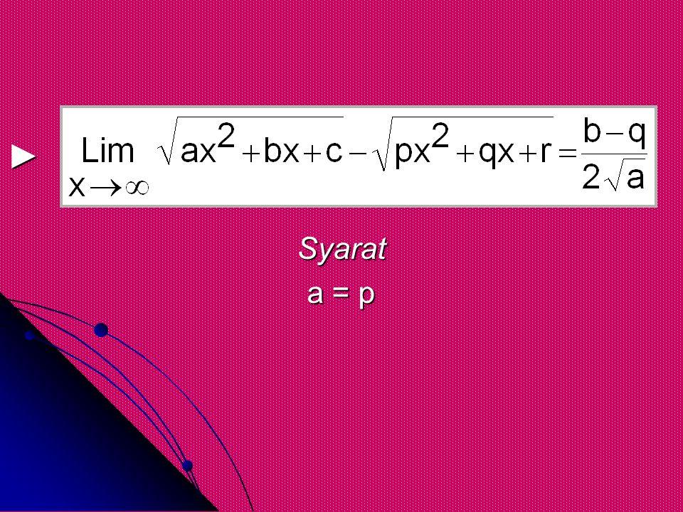 Syarat a = p ►