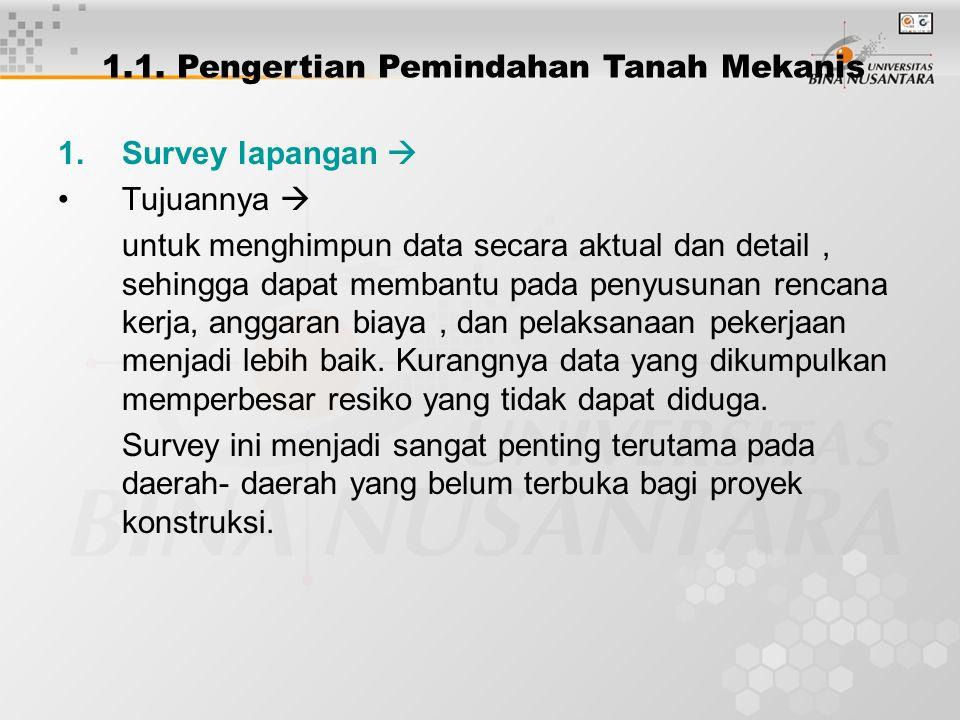 1.Survey lapangan  Tujuannya  untuk menghimpun data secara aktual dan detail, sehingga dapat membantu pada penyusunan rencana kerja, anggaran biaya, dan pelaksanaan pekerjaan menjadi lebih baik.