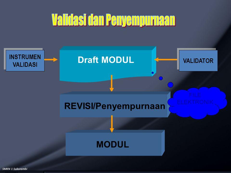 SMKN 1 Sukorambi Draft MODUL MODUL INSTRUMEN VALIDASI INSTRUMEN VALIDASI VALIDATOR REVISI/Penyempurnaan FILE ELEKTRONIK