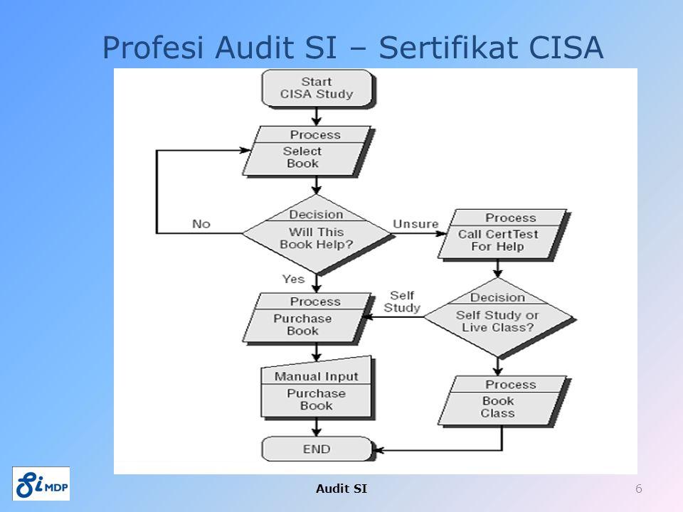 Profesi Audit SI – Sertifikat CISA Audit SI6