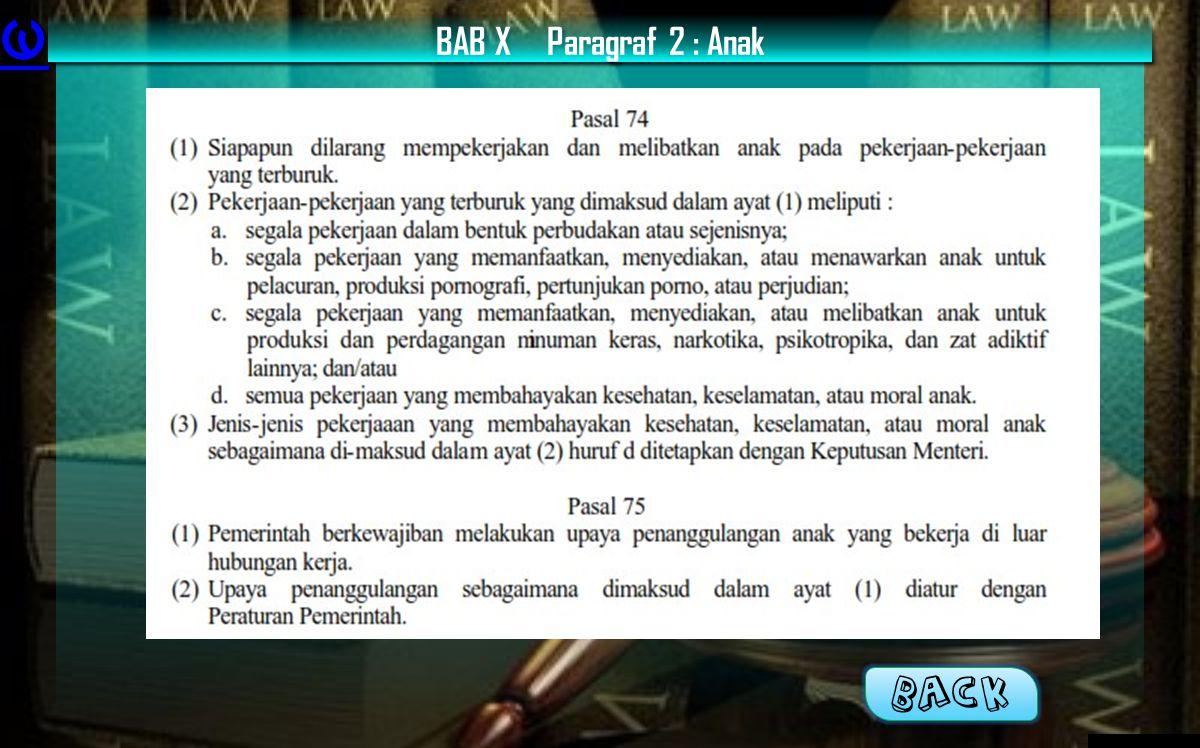 BAB XParagraf 2 : Anak BACK