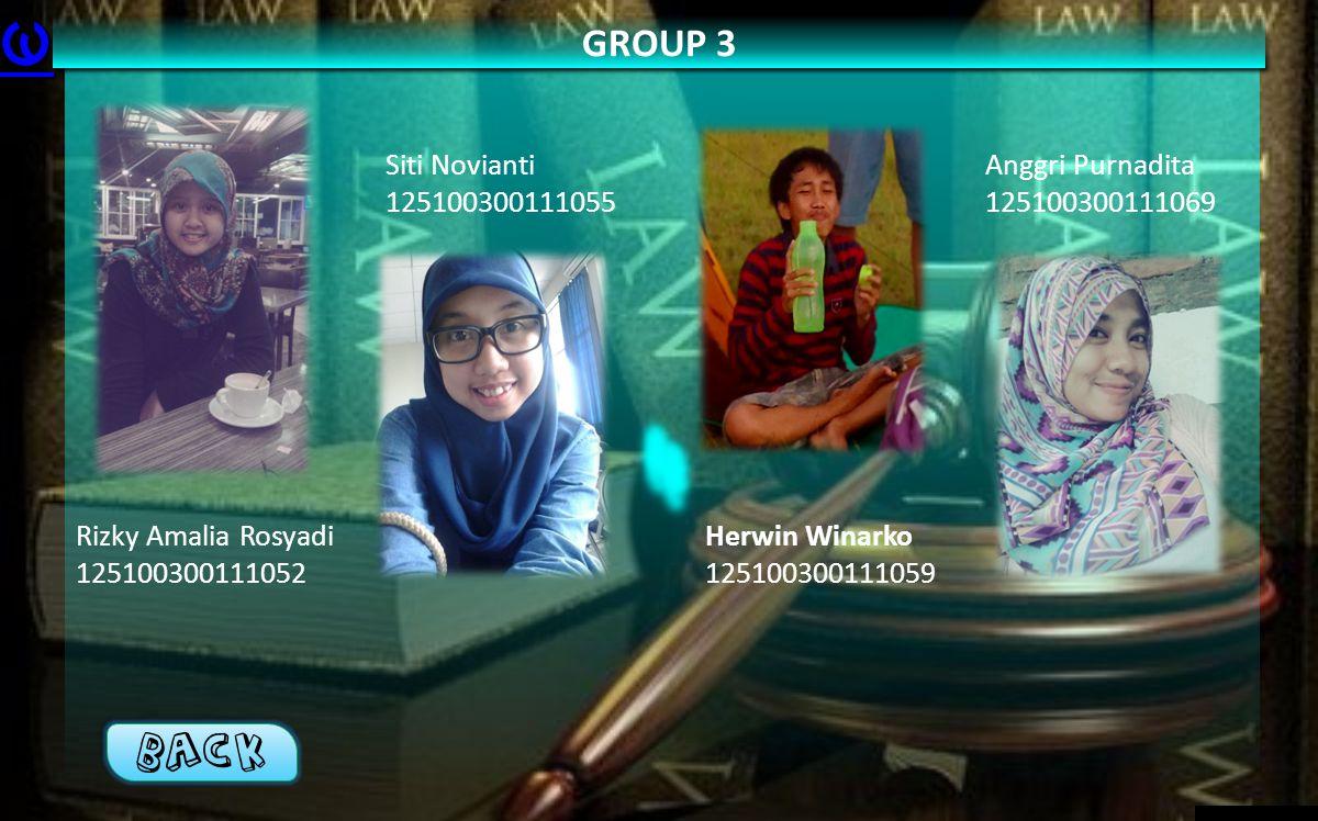 GROUP 3 BACK Rizky Amalia Rosyadi 125100300111052 Siti Novianti 125100300111055 Herwin Winarko 125100300111059 Anggri Purnadita 125100300111069