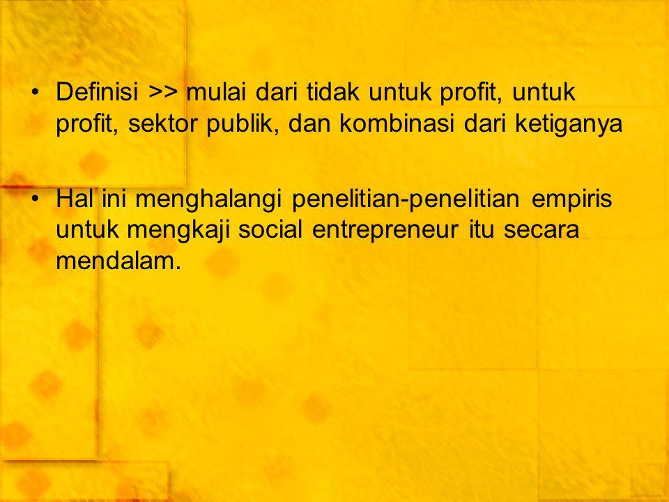 ASSESSING THE STATE OF SOCIAL ENTREPRENEURSHIP RESEARCH Mengidentifikasi dan menganalisis isi dari artikel-artikel yang dipublikasikan >> jurnal manajemen dan kewirausahaan >> topik utamanya terkait dengan fenomena social entrepreneurship.
