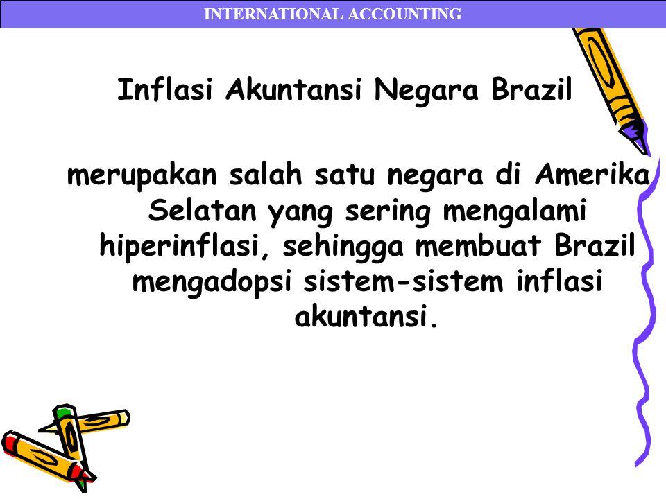 Inflasi Akuntansi Negara Brazil merupakan salah satu negara di Amerika Selatan yang sering mengalami hiperinflasi, sehingga membuat Brazil mengadopsi