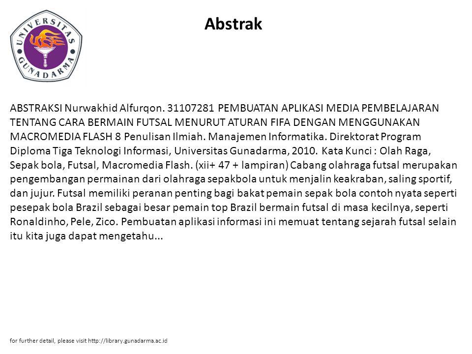 Abstrak ABSTRAKSI Nurwakhid Alfurqon.