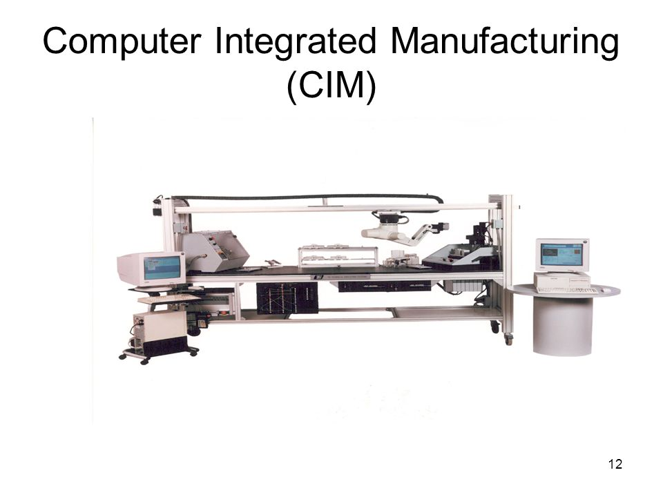 12 Computer Integrated Manufacturing (CIM)‏