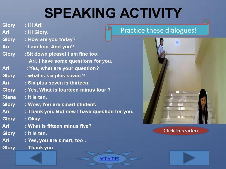 LISTENING ACTIVITY 4 6 10 Listen and repeat! ACTIVITIES