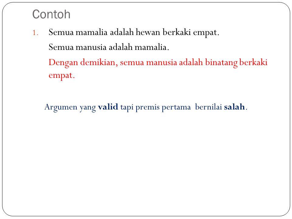Heuristik untuk mengubah pernyataan menjadi ekspresi logika Ambil pernyataan-pernyataan yang pendek tanpa perangkai logika.