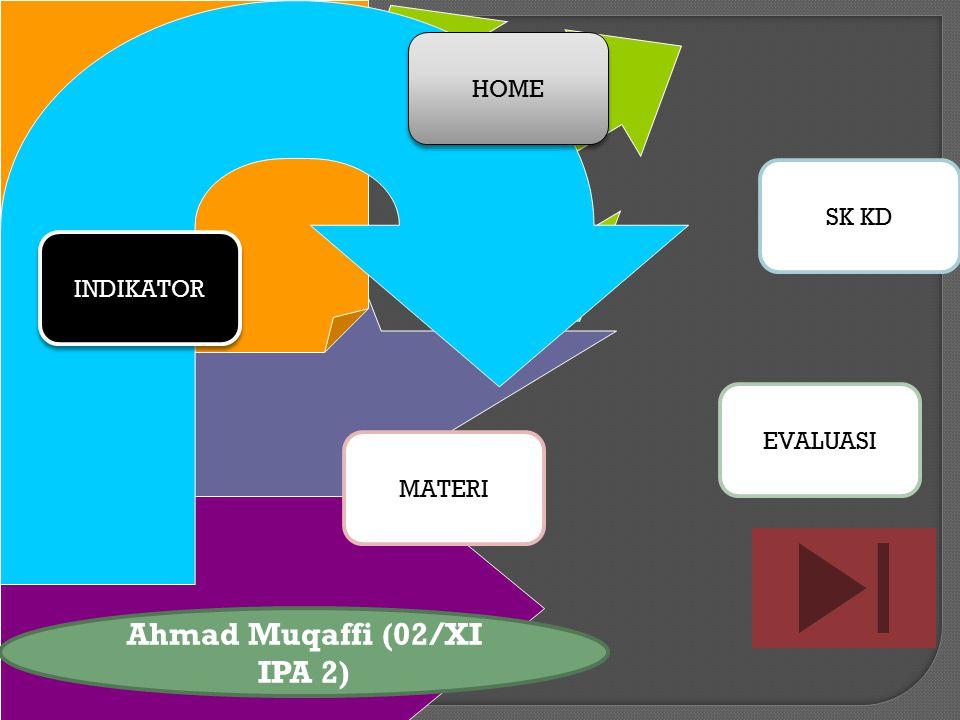HOME SK KD MATERI INDIKATOR EVALUASI Ahmad Muqaffi (02/XI IPA 2)
