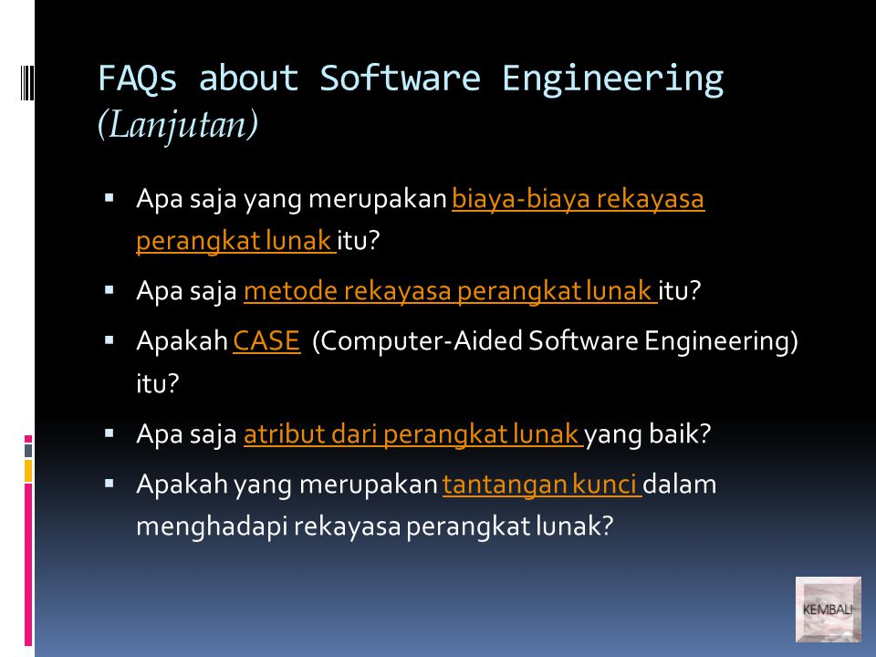 What are the attributes of good software.