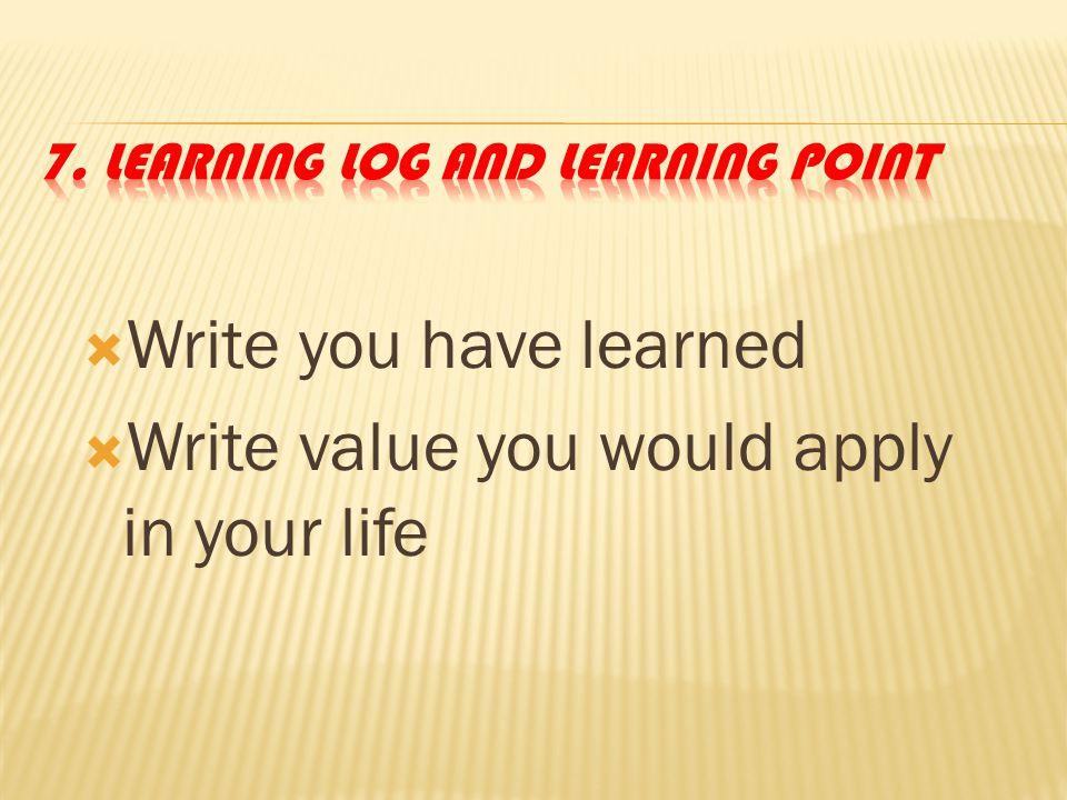 6. Learning Style ( VAK ) V isual A uditory K inesthetics