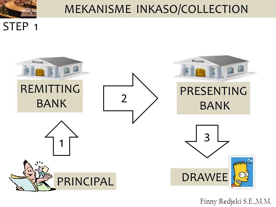 MEKANISME INKASO/COLLECTION PRINCIPAL REMITTING BANK PRESENTING BANK DRAWEE 1 STEP 1 2 3 Finny Redjeki S.E.,M.M.