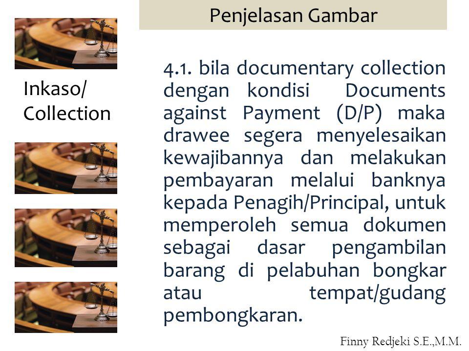 4.1. bila documentary collection dengan kondisi Documents against Payment (D/P) maka drawee segera menyelesaikan kewajibannya dan melakukan pembayaran