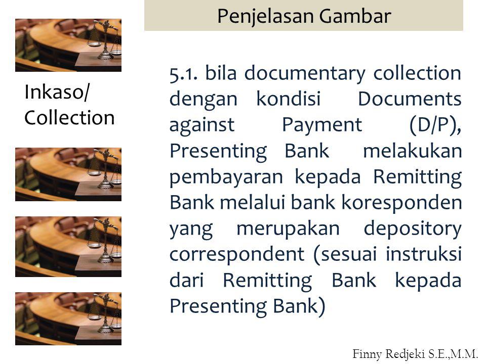 5.1. bila documentary collection dengan kondisi Documents against Payment (D/P), Presenting Bank melakukan pembayaran kepada Remitting Bank melalui ba