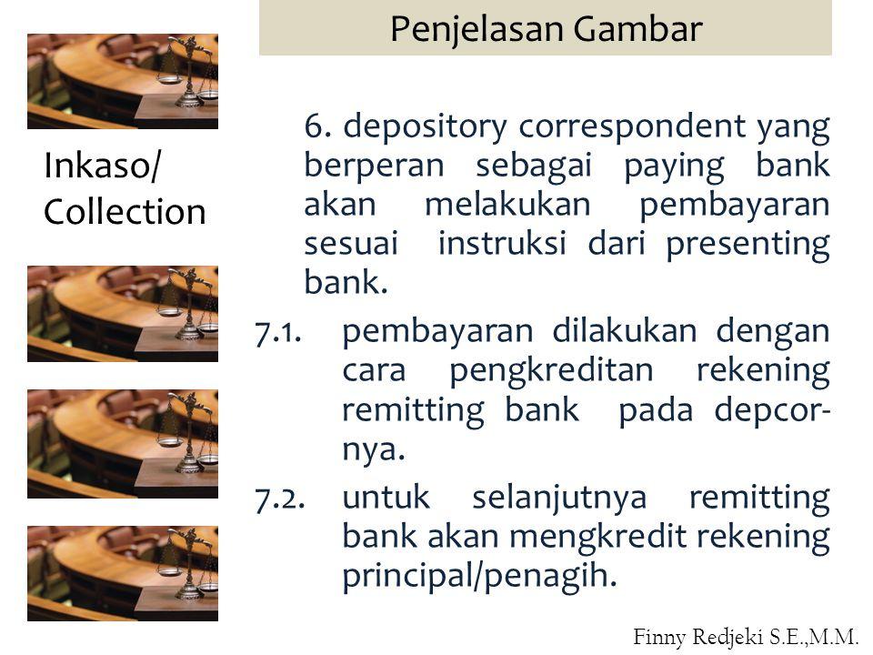 6. depository correspondent yang berperan sebagai paying bank akan melakukan pembayaran sesuai instruksi dari presenting bank. 7.1.pembayaran dilakuka
