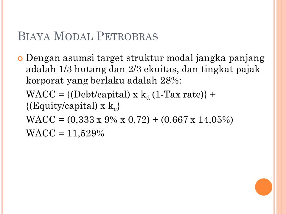 Q&A 1.Mengapa biaya modal Petrobras begitu tinggi.