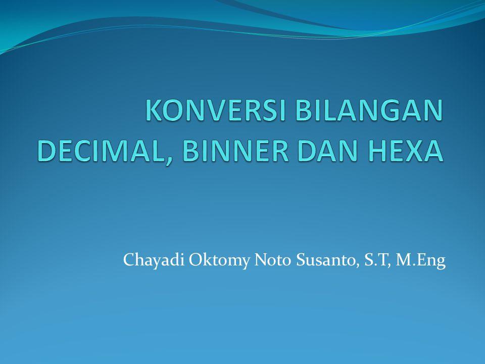 12 > Konversi Bilangan Hexadecimal ke Bilangan Biner Contoh : (1F5) 16 = (.........