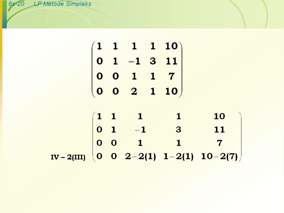 6s-20LP Metode Simpleks IV – 2(III)