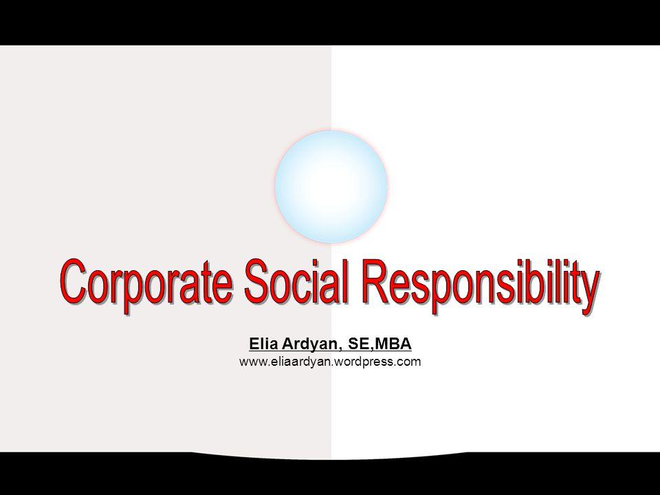 Elia Ardyan, SE,MBA www.eliaardyan.wordpress.com