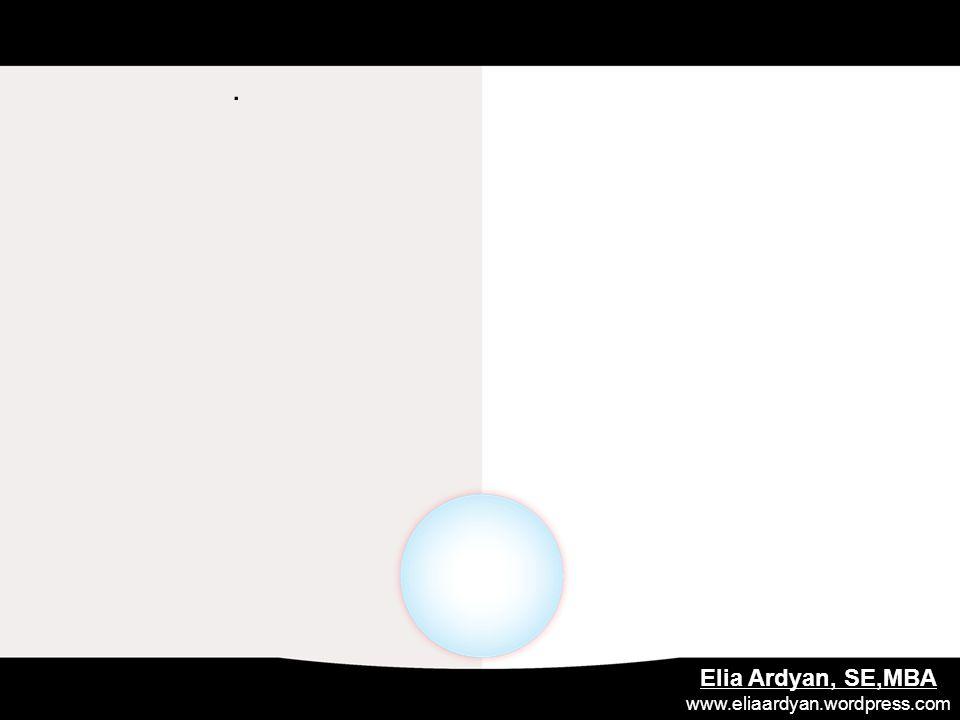 . Elia Ardyan, SE,MBA www.eliaardyan.wordpress.com