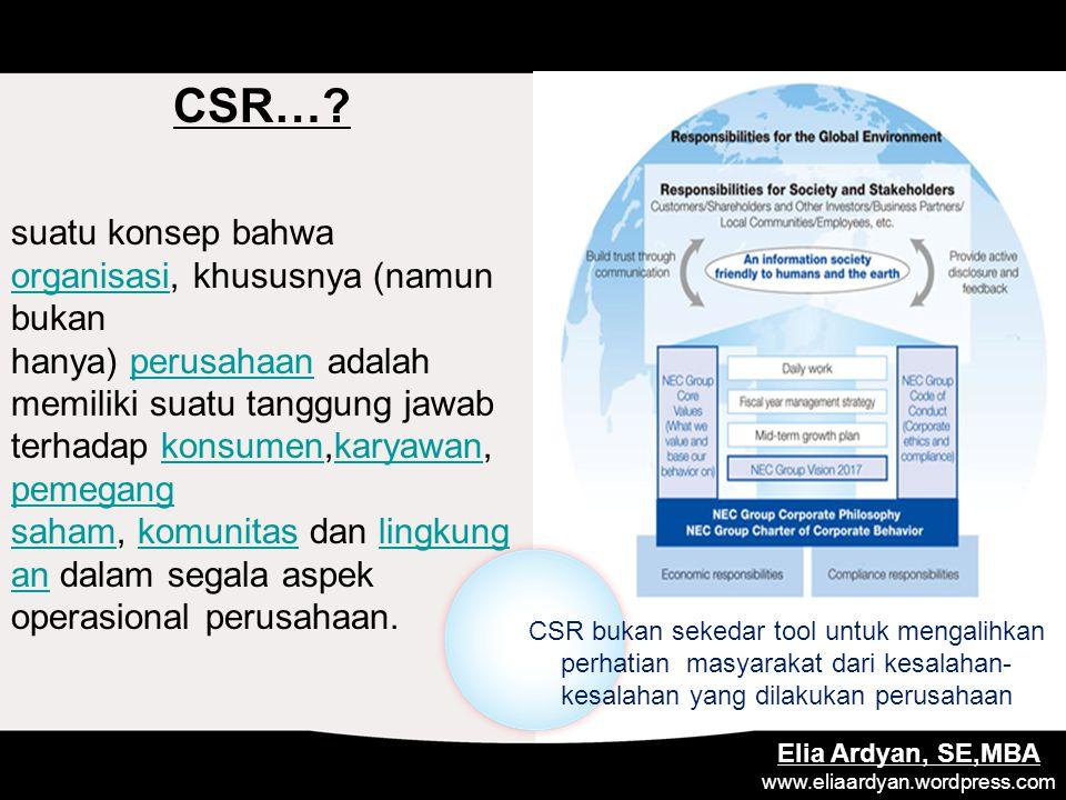 CSR….