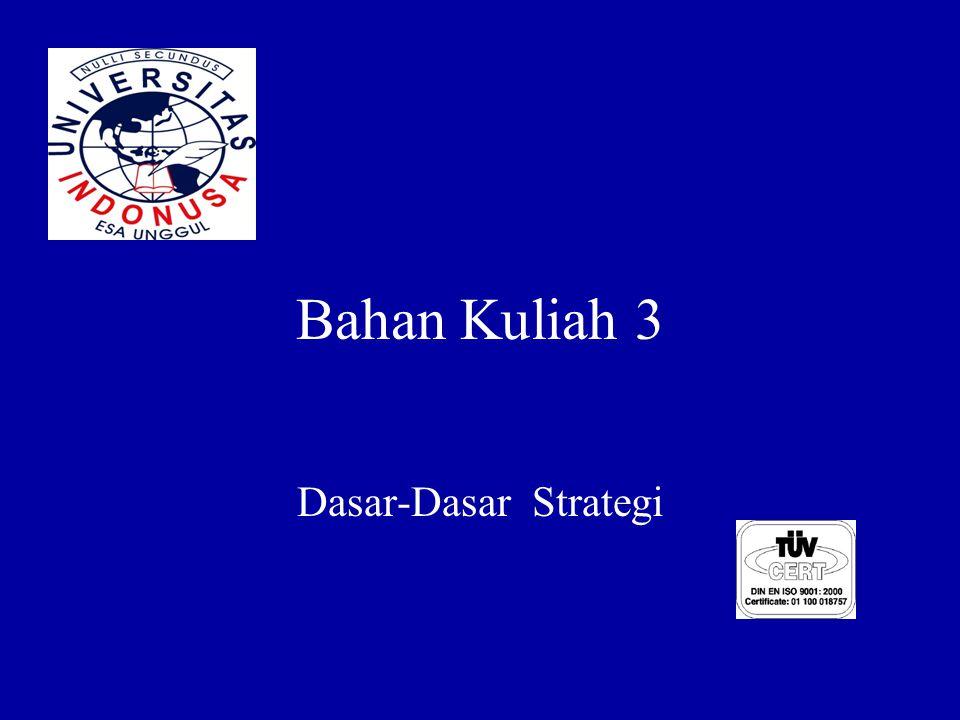 Bahan Kuliah 3 Dasar-Dasar Strategi