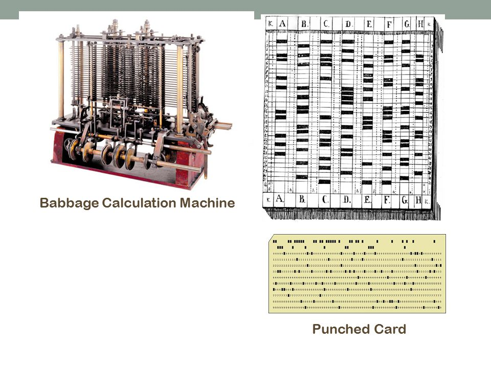 Babbage Calculation Machine Punched Card