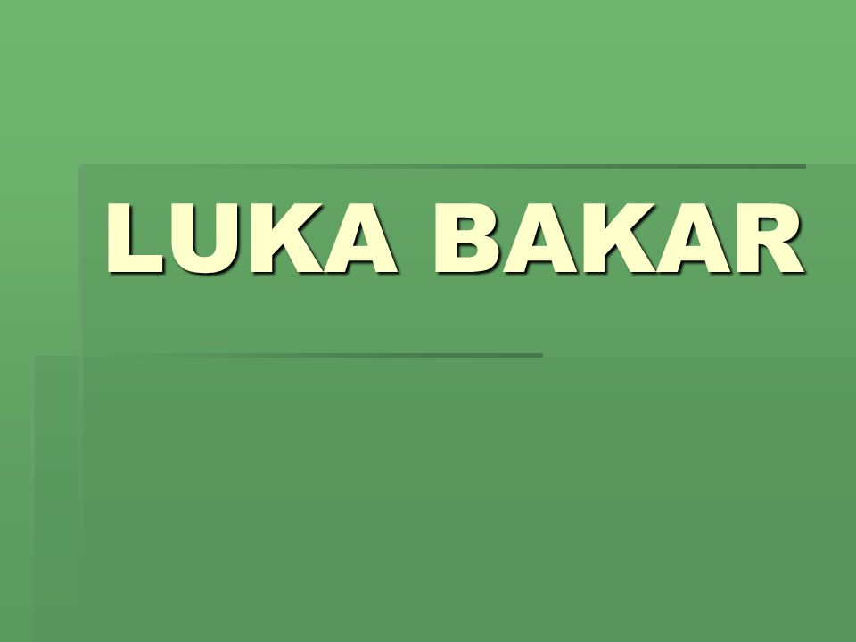 What is Luka Bakar??.